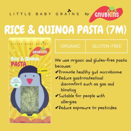 LITTLE BABY GRAINS RICE AND QUINOA PASTA 125G (YELLOW PENGUIN)