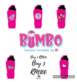 [ BIMBO ] INSTANT SWADDLE (BEDUNG) - GIRLS