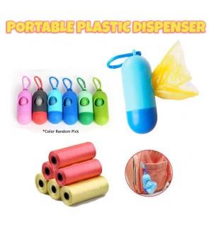 BABY CARE MULTIPURPOSE PORTABLE DIAPER DISPOSAL GARBAGE BAG PLASTIC DISPENSER & REFILL ROLL DIAPER BAG (2PCS ROLL PER PACK)