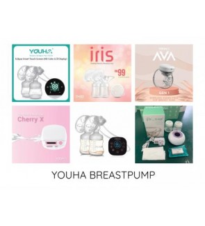 YOUHA BREAST PUMP [ ECLIPSE, ONYX, CHERRY X, AVA, OKIZZ IRIS, YEDA ]