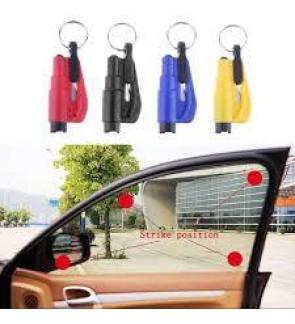 CAR GLASS WINDOW BREAKER WITH SEATBELT CUTTER