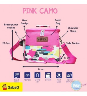 READY STOCK GABAG PINK CAMO SINGLE SLING SERIES FREE 2 GABAG ICE PACK