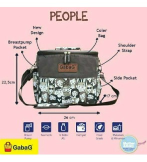 READY STOCK GABAG PEOPLE SINGLE SLING SERIES FREE 2 GABAG ICE PACK