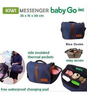 BabyGO Inc Kiwi Messenger Denim - Navy Blue