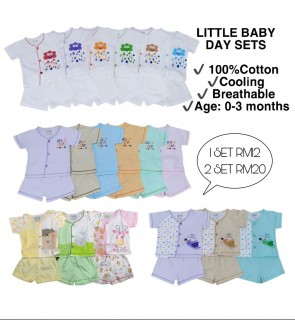 NEWBORN BABY CLOTHES LITTLE BABY DAY SETS