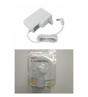 SPECTRA BREAST PUMP SPARE PARTS ACCESSORIES [ 12V ADAPTER AND VALVE & MEMBRANE ]