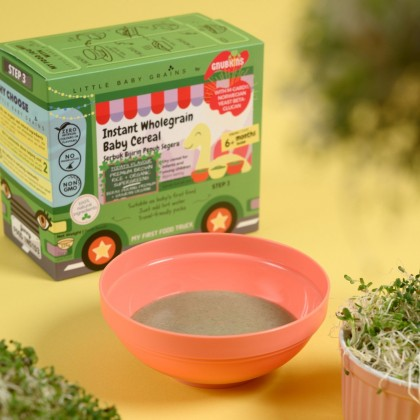 LITTLE BABY GRAIN - PREMIUM BROWN RICE AND ORGANIC SUPERGREENS INSTANT CEREAL (FROM 6 MONTHS)