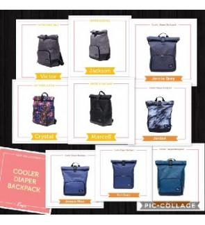 ALLEGRA - ROLL TOP BACK PACK SERIES - COOLER BAG / THERMAL BAG / COOLER DIAPER BAG