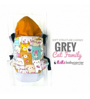 Nana Baby Carrier |Standard Size - Grey Cat Family