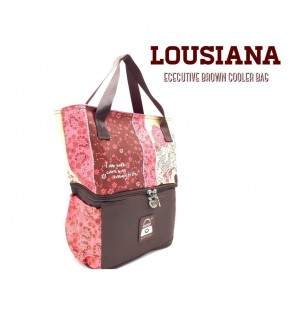 READY STOCK NAIMAX LOUISIANA MAROON FLOWER TOTE COOLERBAG FREE 2 ICE PACK