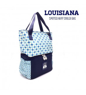 READY STOCK NAIMAX LOUISIANA SPOTTED NAVY TOTE COOLERBAG FREE 2 ICE PACK