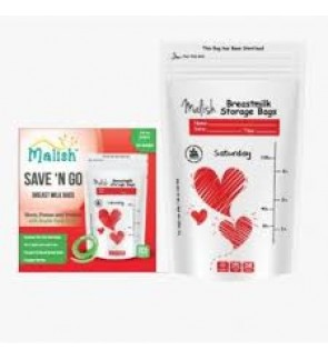 READY STOCK MALISH BREAST MILK STORAGE BAG 3.4OZ RED HEART