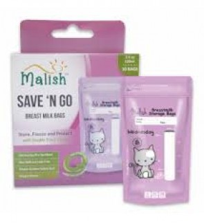READY STOCK MALISH BREAST MILK STORAGE BAG 3.4OZ PURPLE CAT