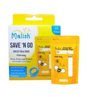 READY STOCK MALISH BREAST MILK STORAGE BAG 3.4OZ YELLOW BEE