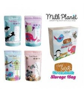 READY STOCK MILK PLANET PREMIUM BREAST MILK STORAGE BAG 10OZ