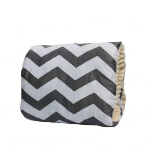 Arm Nursing Pillow - Grey Chevron
