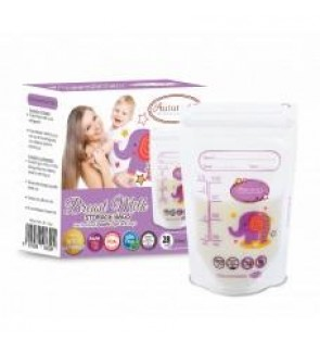New [ Autumnz ] - Double ZipLock Breastmilk Storage Bag 3.5oz (28 Pcs)
