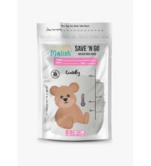[ MALISH ] Original Malish Breast Milk Storage Bag With Thermal Sensor 3.4oz/100ml (CUDDLY)
