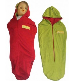 [ HANAROO ] Instant Bedung / Instant Swaddle Zip / Baby Sleeping Bag (Dark red avocado)