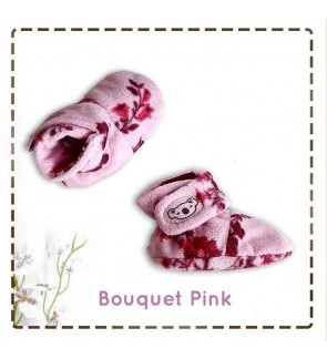 CUDDLE ME FITTED BOOTIES - BOUQUET PINK