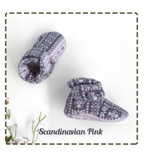 CUDDLE ME FITTED BOOTIES - SCANDINAVIAN PINK