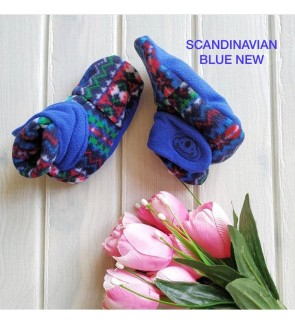 CUDDLE ME FITTED BOOTIES - SCANDINAVIAN BLUE NEW