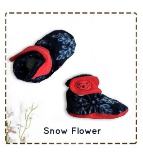 CUDDLE ME FITTED BOOTIES - SNOW FLOWER