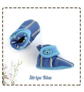 CUDDLE ME FITTED BOOTIES -  STRIPE BLUE