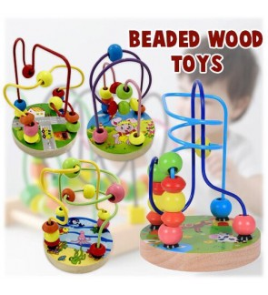SMALL BEADED WOOD TOYS